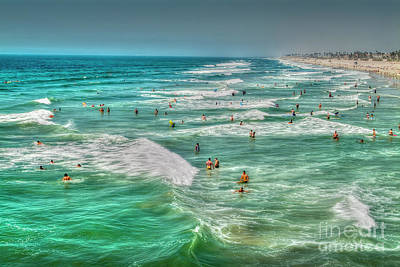 Photograph - Good Ocean Waves Day by David Zanzinger