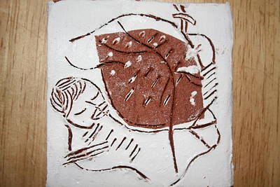Good Shepherd - Tile Art Print by Gloria Ssali