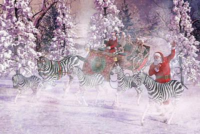 Christmas Holiday Scenery Digital Art - Good Tidings And Joy by Betsy Knapp