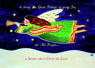 With Scripture Painting - Good Tidings  by Hazel Holland