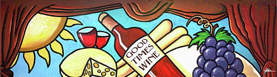 Painting - Good Times Wine by James R Hahn