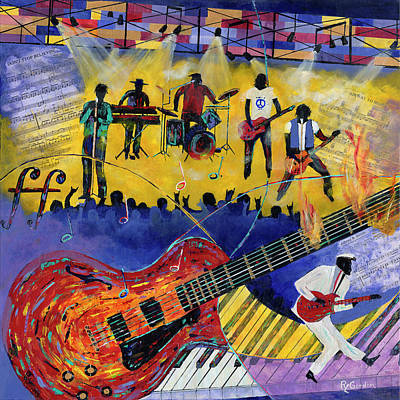 Good Vibrations Art Print by Richard L Gordon