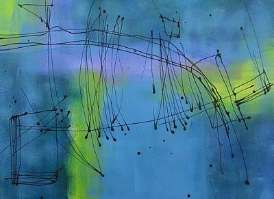 Bold Painting - Good Vibrations Three by Louise Adams
