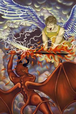 Good Vs Evil Art Print by Tom Wrenn