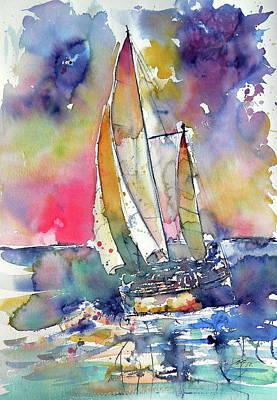 Painting - Good Winds by Kovacs Anna Brigitta