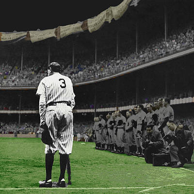 Photograph - Goodbye Babe Ruth Farewell by Tony Rubino