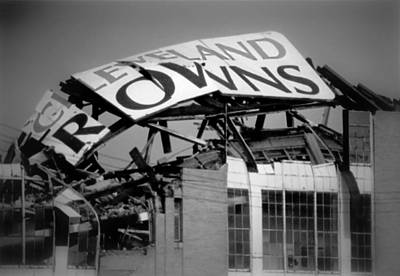 Football Photograph - Goodbye Cleveland Stadium by Kenneth Krolikowski
