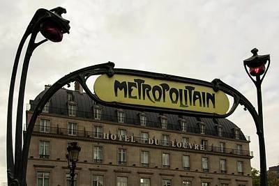Photograph - Goodbye Paris 2013 - The Metro Signs Series - 1 by Hany J