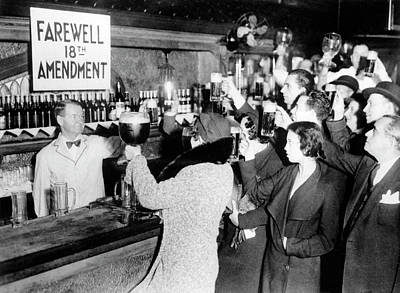 Of Liquor Photograph - Goodbye Prohibition Toast 1933 by Daniel Hagerman