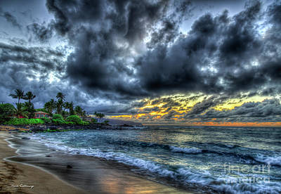 Photograph - Goodbye Until Tomorrow 2 North Shore Sunset Oahu Hawaii Collection Art by Reid Callaway