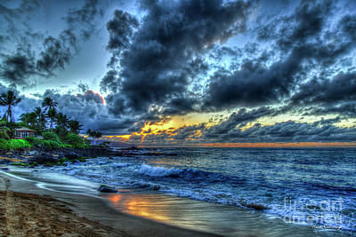 Photograph - Goodbye Until Tomorrow North Shore Sunset Oahu Hawaii Collection Art by Reid Callaway