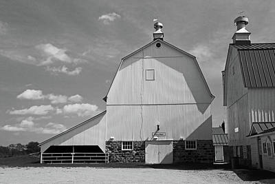 Photograph - Goodells Barn 2 Bw by Mary Bedy