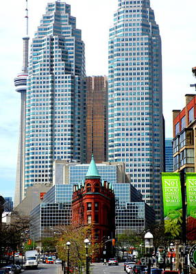 Photograph - Gooderham Building by Randall Weidner