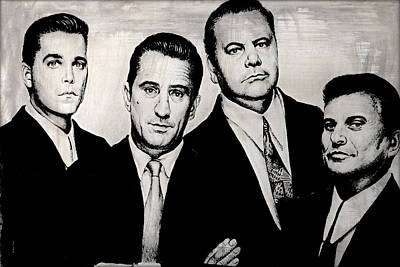 Famous Faces Drawing - Goodfellas by Andrew Read