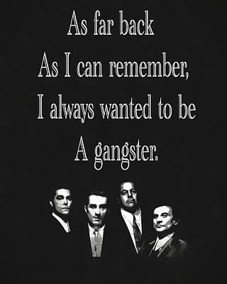 Goodfellas Quote Art Print