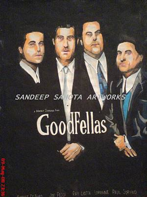 Robert Deniro Wall Art - Painting - Goodfellas by San Art Studio