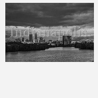 Skylines Wall Art - Photograph - @goodmorningindy @keepindyindie by David Haskett II