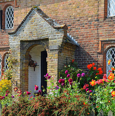 Photograph - Goodnestone Cottage With English Country Garden by Carla Parris