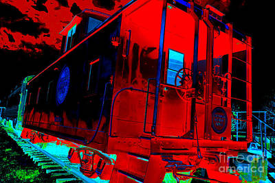 Goodnight Caboose Art Print