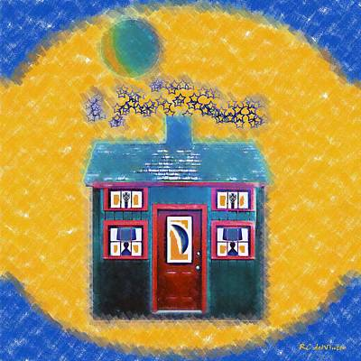 Painting - Goodnight, Little House by RC deWinter