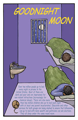 Abolition Mixed Media - Goodnight Moon by Ricardo Levins Morales