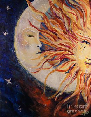 Comfort Painting - Goodnight Moon by Sandra Gallegos