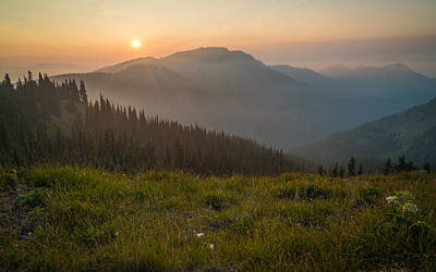 Olympic National Park Photograph - Goodnight Mountains by Kristopher Schoenleber