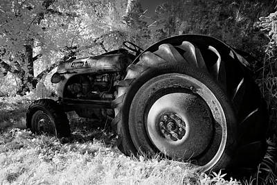 Ir Photograph - Goodnight Tractor by Luke Moore