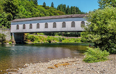 Photograph - Goodpasture Covered Bridge by Matthew Irvin