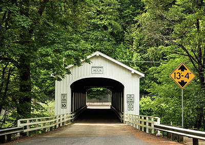 Photograph - Goodpasture Covered Bridge by Tom Cochran