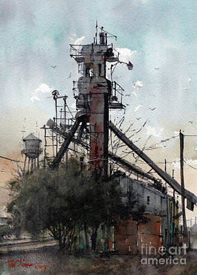 Painting - Goodpasture Grain Shallowater,texas by Tim Oliver
