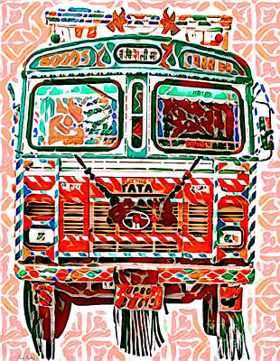 Mixed Media - Goods Carrier India by Lita Kelley