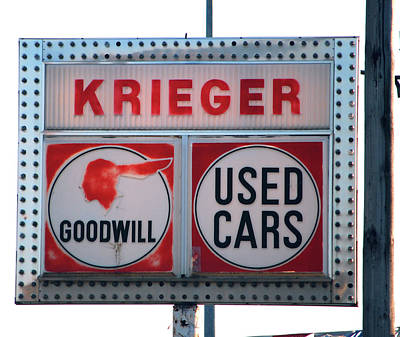 Photograph - Goodwill Used Cars by Jame Hayes
