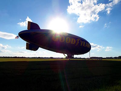Photograph - Goodyear Blimp 001  by Chris Mercer