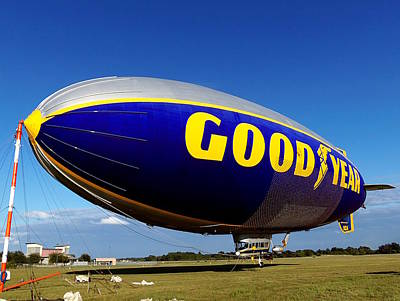 Photograph - Goodyear Blimp  by Chris Mercer