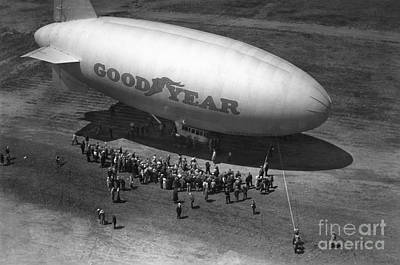 Painting - Goodyear Blimp by Granger