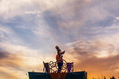 Dogs Photograph - Goofy At Sunset by Zina Stromberg