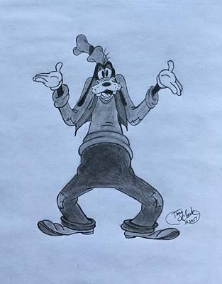 Drawing - Goofy by Tony Clark
