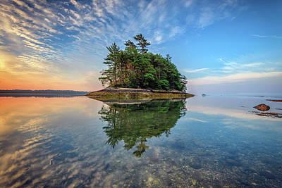 Photograph - Googins Island Reflection by Rick Berk