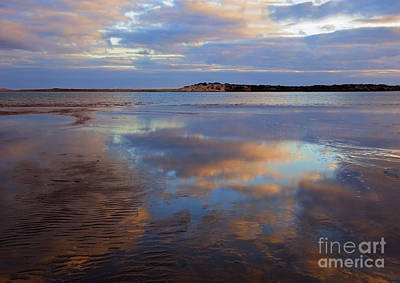 South Australia Photograph - Goolwa Beach Reflections by Mike Dawson