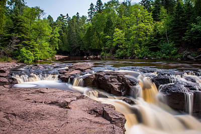 Goose Berry River Rapids Print by Paul Freidlund
