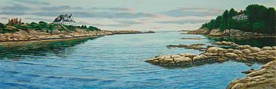 Goose Neck Cove Art Print by Bruce Dumas