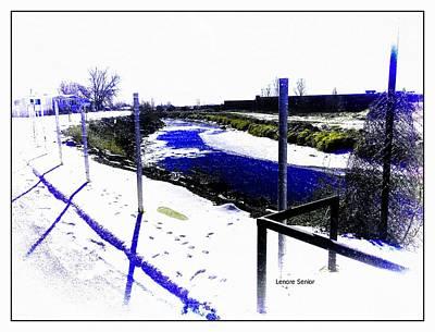 Digital Art - Goose Tracks by Lenore Senior