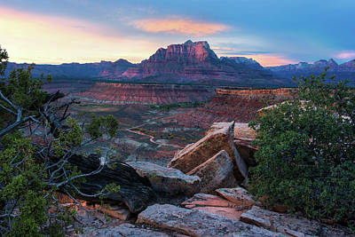 Photograph - Gooseberry Mesa - Kinesava Mtn by Expressive Landscapes Fine Art Photography by Thom