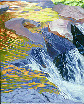 Richard Diebenkorn Painting - Gooseberry River And Falls  II by James Burpee