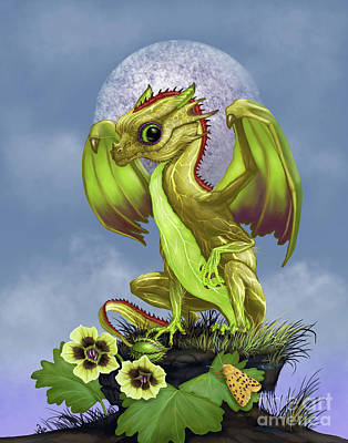 Art Print featuring the digital art Gooseberry Dragon by Stanley Morrison