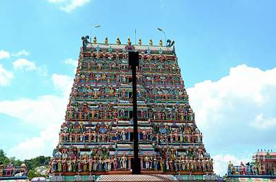 Photograph - Gopuram Pagoda Of Tamil Kallumalai Murugan Kovil Hindu Temple Ipoh Malaysia by Imran Ahmed