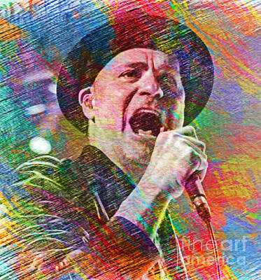 Hip Drawing - Gord Downie Of The Tragically Hip by John Malone