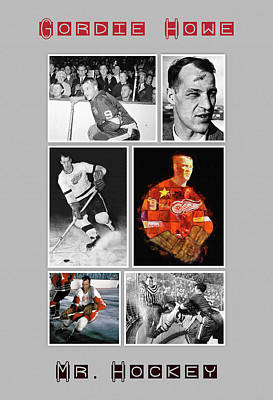 Mr. Hockey Painting - Gordie Howe by Big 88 Artworks