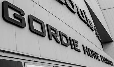 Gordie Howe Entrance Art Print by Justin Hicks